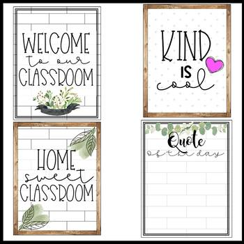 Tile Farmhouse Growth Mindset Quotes