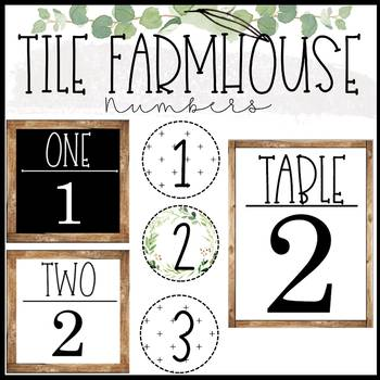 Tile Farmhouse Numbers