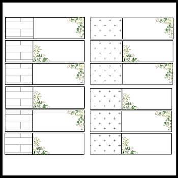 Tile Farmhouse Schedule Cards