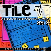 Tile It Math Centers: Addition and Subtraction Logic Puzzl