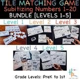Tile Matching Game: Subitizing Numbers 1-20 BUNDLE [Levels 1-5]