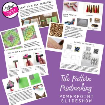 Tile Pattern Printmaking Unit Powerpoint