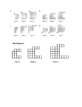 Tile Patterns for linear equations