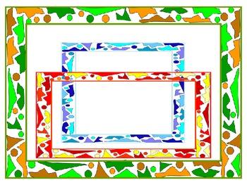 Tile Shards Frames and Borders