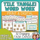 Word Work Tile Tangle Task Cards! Engaging Word Game