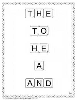 Tile it! Sight Words-set 1 (sight word practice)