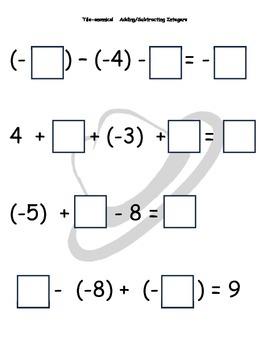 Tile-onomics Adding & Subtracting Integers