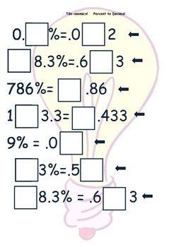 Tile-onomics Percent to Decimal
