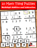 Addition and Subtraction with Regrouping Tiling Puzzles