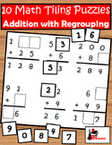 Addition with Regrouping Tiling Puzzles