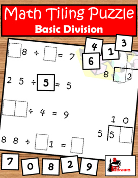 Tiling - Division Facts Puzzle - FREE
