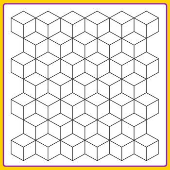 Tiling Geometric Patterns for Color In Clip Art Set for Commercial Use