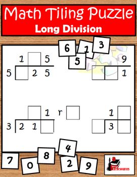 Tiling - Long Division Puzzle - FREE