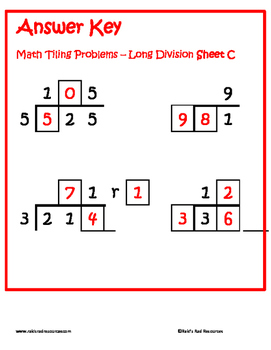 tiling long division puzzle free by raki 39 s rad resources tpt. Black Bedroom Furniture Sets. Home Design Ideas