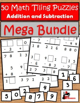 Tiling Puzzles Bundle - Addition & Subtraction