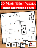 Subtraction Facts Tiling Puzzles