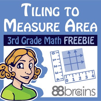 Tiling to Measure Area FREEBIE pgs. 6 - 9 (Common Core)