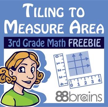 Tiling to Measure Area FREEBIE pgs. 6 - 9 (Common Core)
