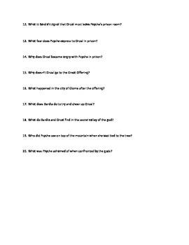 Till We Have Faces Reading Quizzes