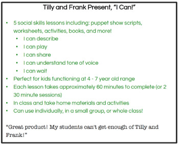 """I Can"" Social Skills Lessons for Young Children"