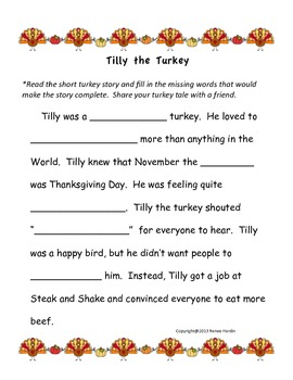 Tilly the Turkey: A Turkey Tale