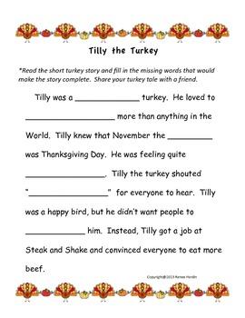 Tilly the Turkey: A Turkey Tale