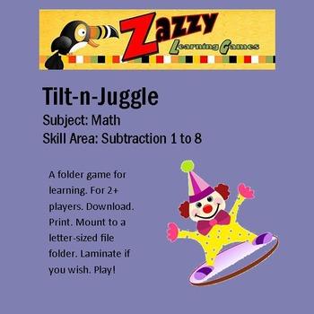 Tilt-n-Juggle Folder Game Subtraction 8 family