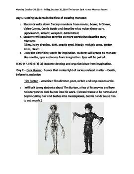 Tim Burton Dark Humor Poems