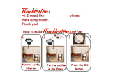 Tim Horton's Dramatic Play Printables