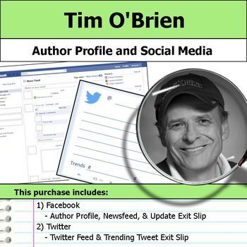 Tim O'Brien - Author Study - Profile and Social Media