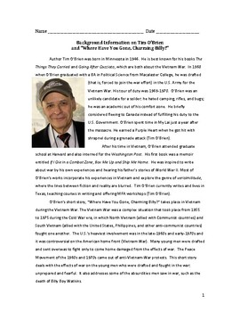 """Tim O'Brien """"Where Have You Gone, Charming Billy?"""" Background Information Sheet"""