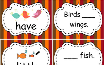 Tim and Sam High Frequency Words Cards
