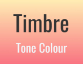Timbre Lesson - ONLINE/REMOTE TEACHING MATERIALS