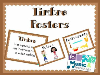 Elements of Music- Timbre Posters