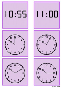 Time - 10 o'clock to 11 o'clock by 5 minute intervals