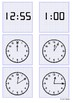 Time - 12 o'clock to 1 o'clock by 5 minute intervals