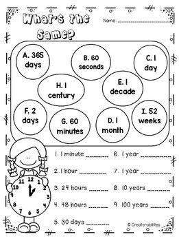Time Activities Posters and Games