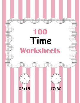 Time Worksheets - What time is it?