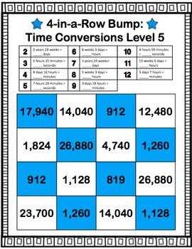 Time Conversions: Measurement Conversion Games (4.MD.A.1)