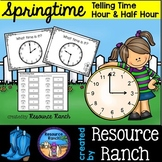 Time Task Cards for Hour and Half Hour