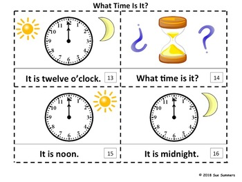 Time 2 Emergent Reader Booklets What Time Is It? in English