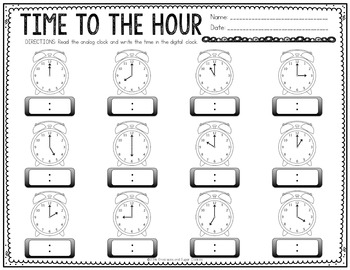 Time Task Cards and Printables