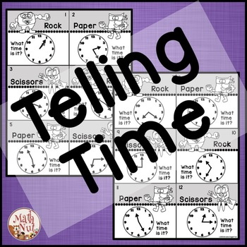 """Telling Time Game """"to the Nearest 5 Minutes"""""""