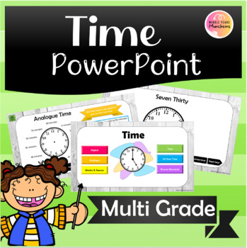 Time 24hour digital analogue Powerpoint