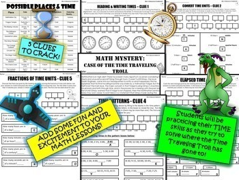 Elapsed time, Converting Time, Time Patterns Review Activity (GRADE 4)