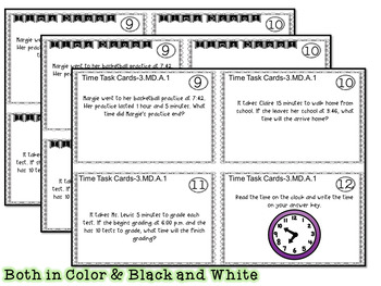 FREE Time - 3.MD.A.1 - Scoot Games and Task Cards - 3rd Grade