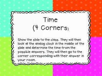 Time 4 Corners (Time to the hour)