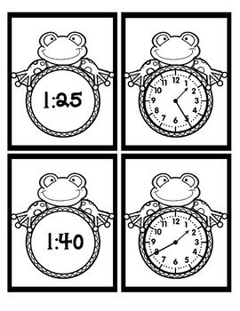 Time - 5 Minute Intervals - Frogs - Black & White