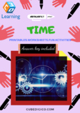Time - Amazing Fun Activities, Worksheets based printable - Distance Learning