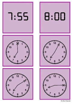 Time - 7 o'clock to 8 o'clock by 5 minute intervals